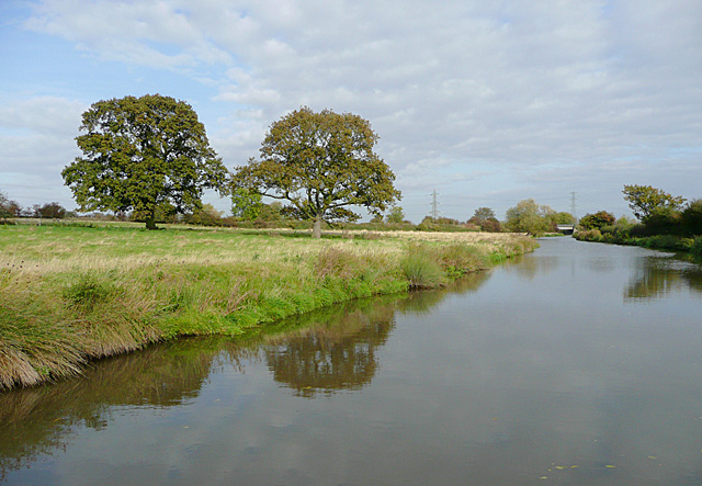 Trent and Mersey Canal at Weston-on-Trent, Derbyshire - geograph.org.uk - 1553778