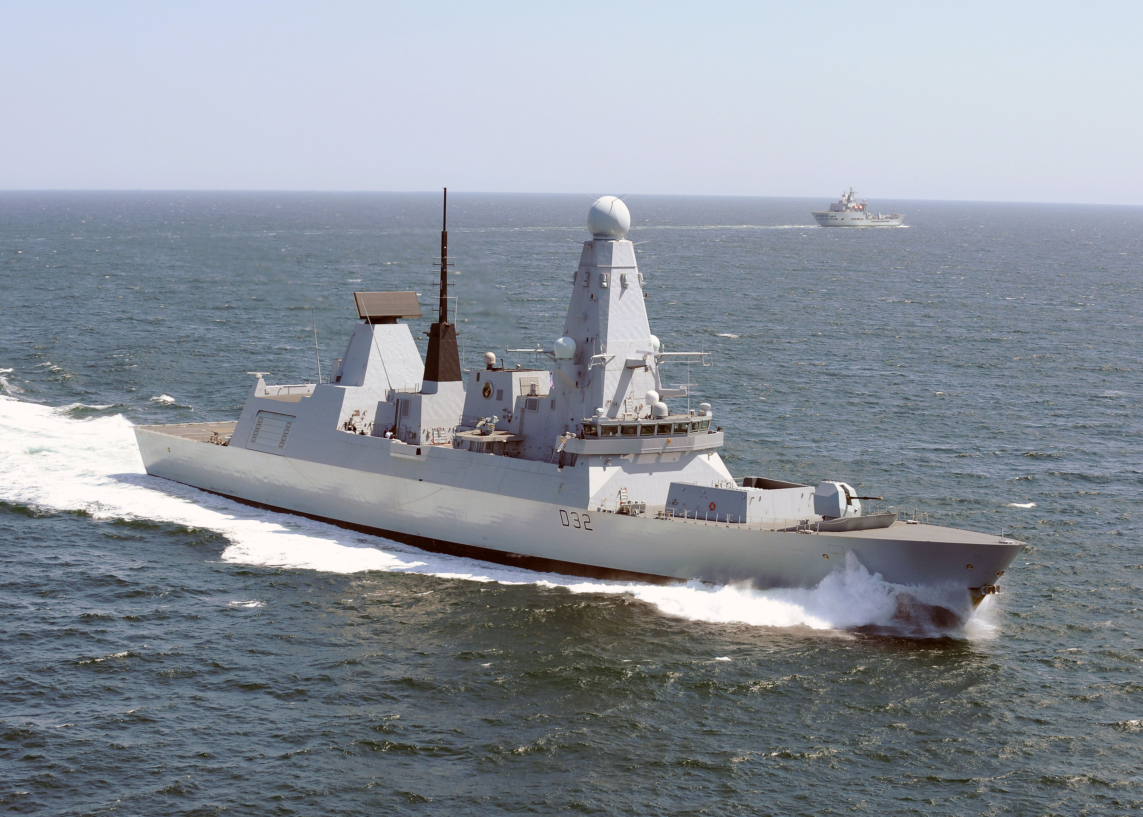 file type 45 destroyer hms daring in the english channel