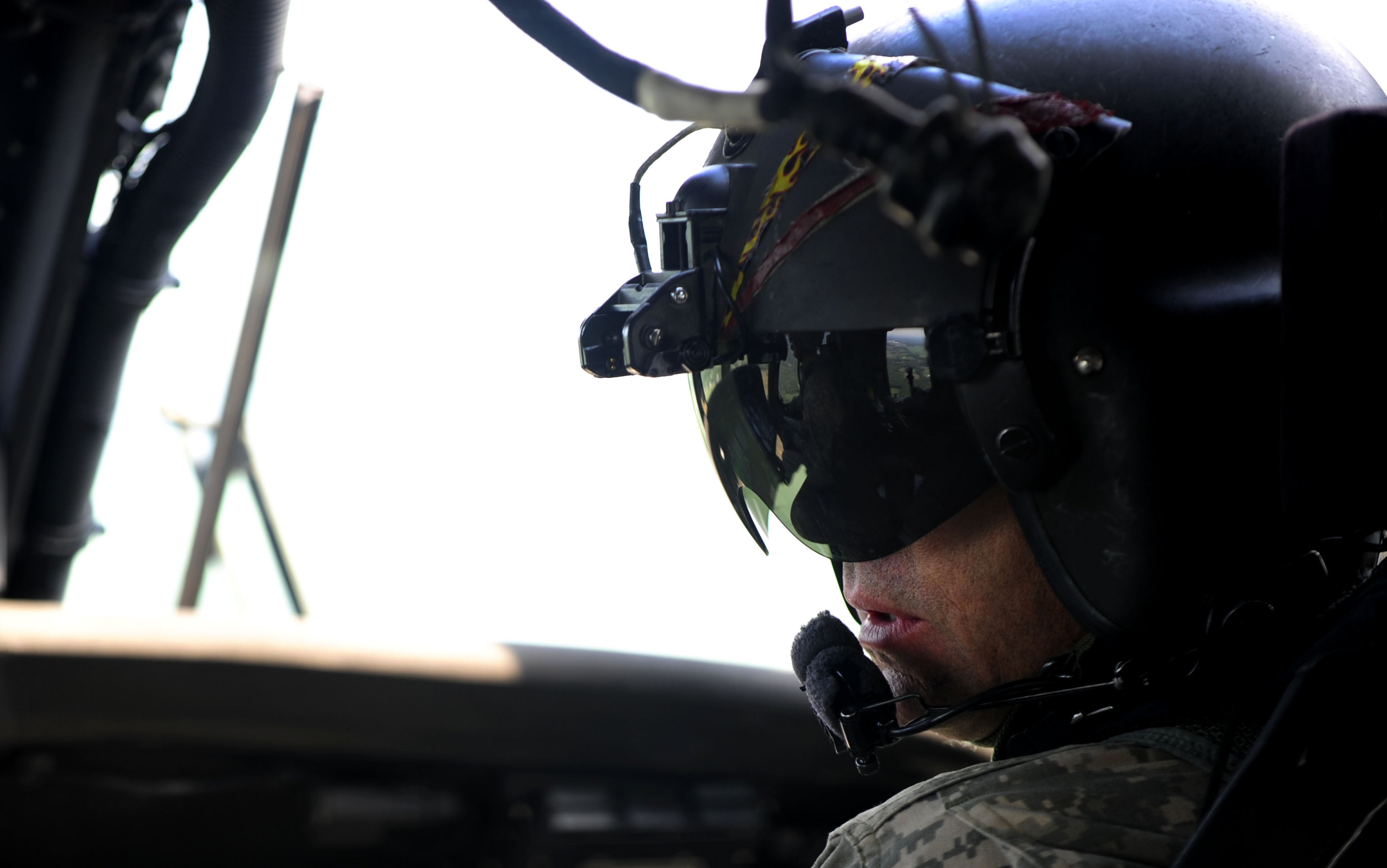 helicopter pilot helmet with File U S  Army Chief Warrant Officer 3 Kevin Palermino  A Uh 60 Black Hawk Helicopter Pilot With The 169th Aviation Battalion  Conducts An Aerial Survey Mission July 31  2012  During Exercise Vibrant Response 13 120731 F Ui476 175 on Adom 9g Oxygen Mask also  likewise Russian Su27 Mig 29 Aircraft Zsh 7 Pilot Flying Flight Helmet Km 34 Oxygen Mask also 1462 Casque Jet Noir Moto Biker Harley Trike Pilote Helicoptere besides Flight Helmets.