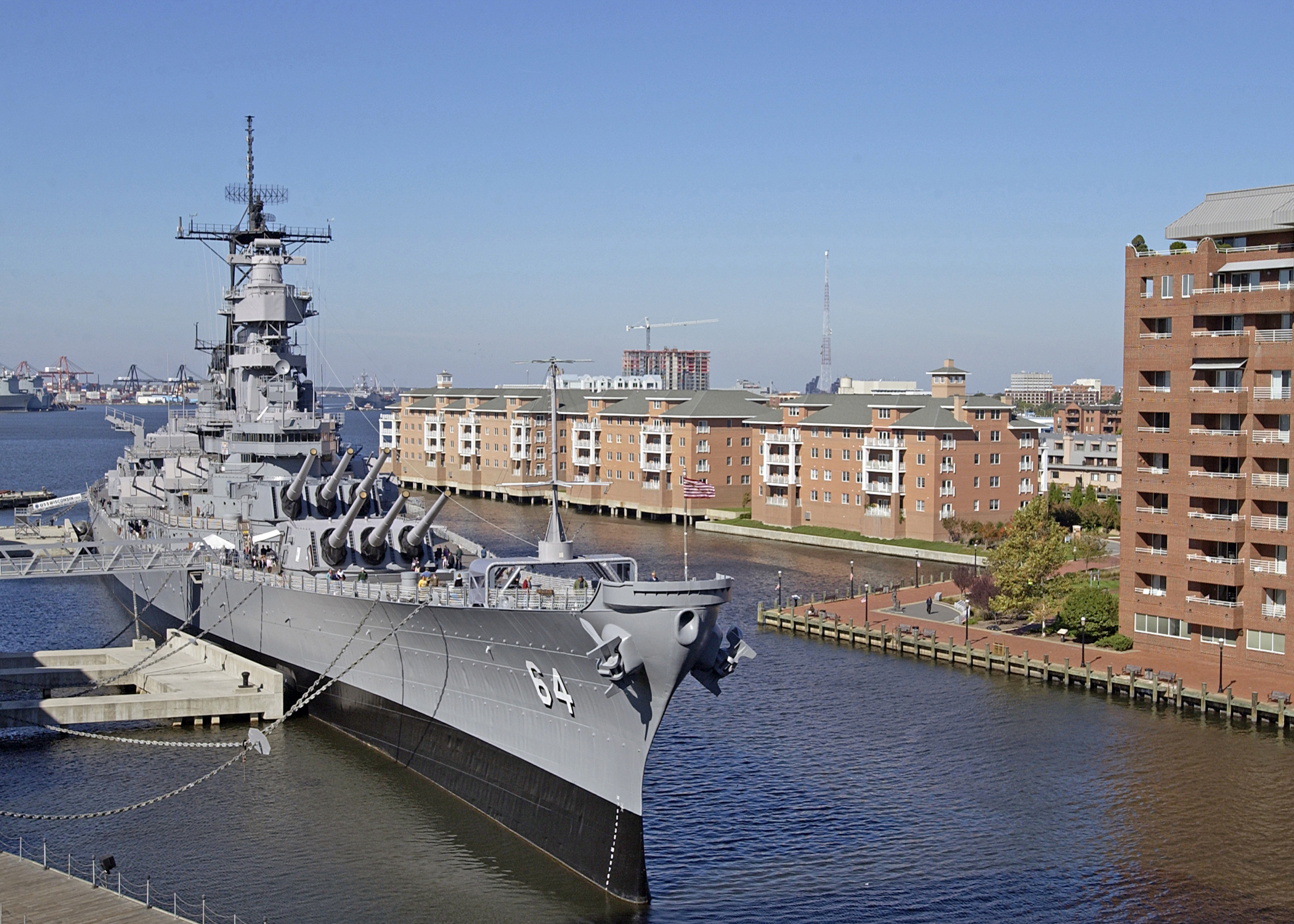 FileUS Navy ND The Battleship USS Wisconsin BB - Ship museums in us