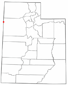 Location of Wendover, Utah