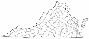 Location of Centreville, Virginia