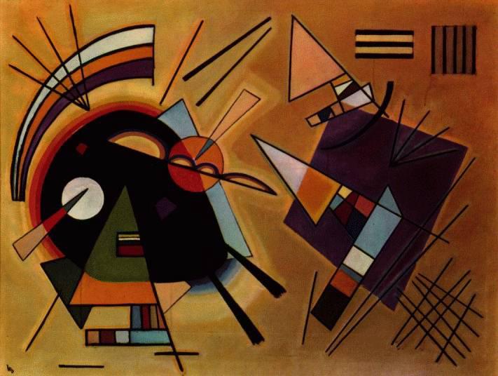 Vassily Kandinsky, 1923 - Black & Violet