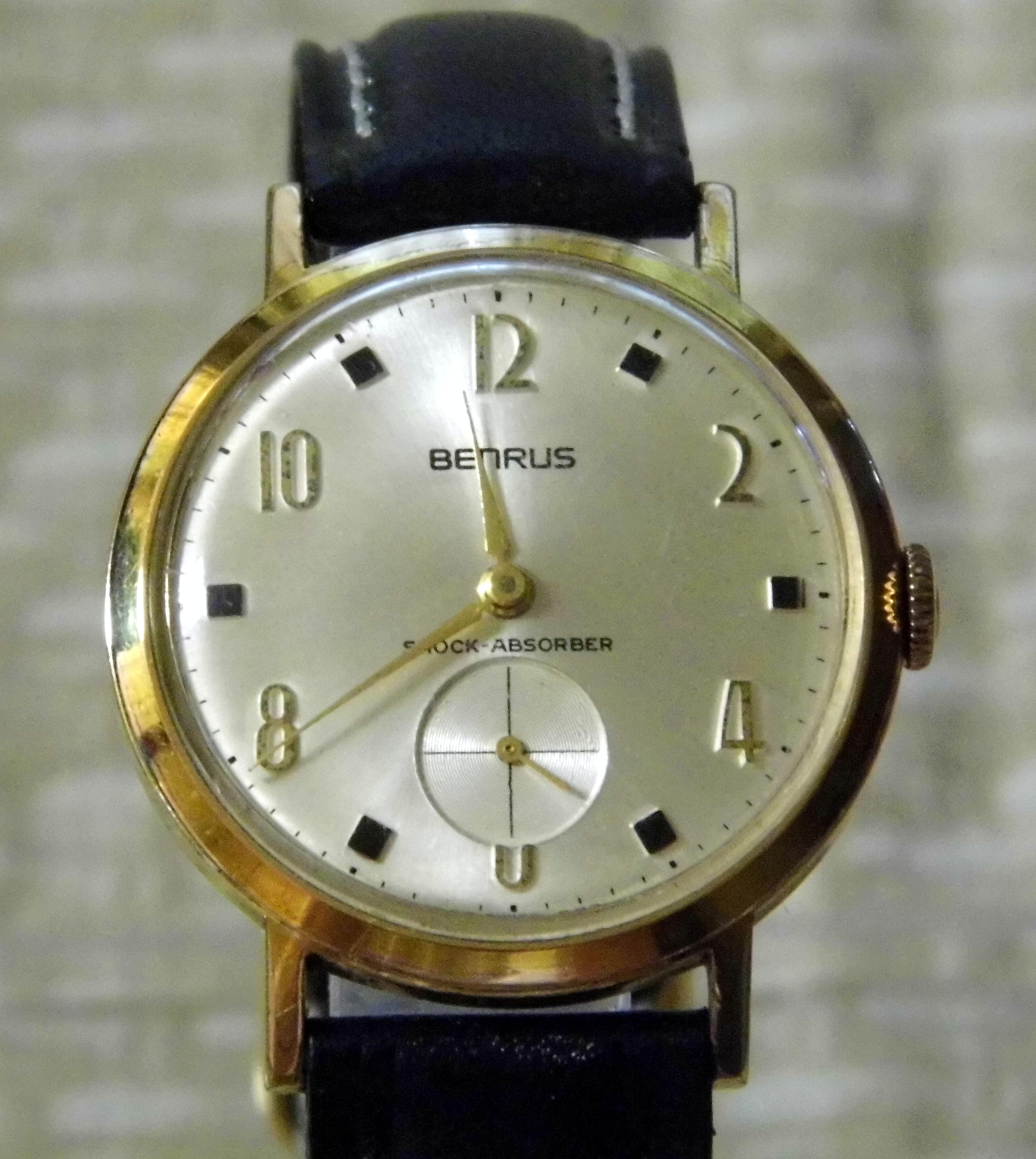 file vintage benrus manual wind men s goldtone watch Manual Wind Up Watches Manual Wind Rolex Watches