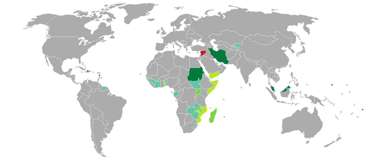 Visa Requirements For Syrian Citizens Wikipedia