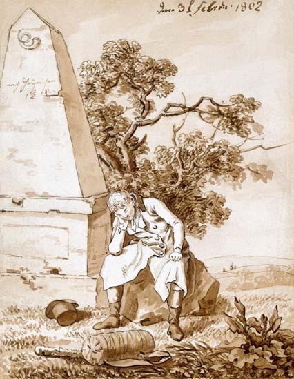 Wędrowiec przy kamieniu milowym, 1802