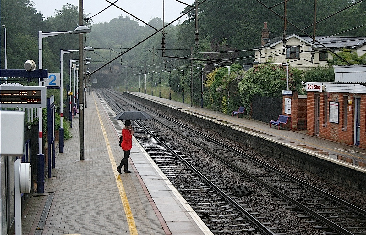 File:Where is my train^ The 'lady in red' at Welwyn