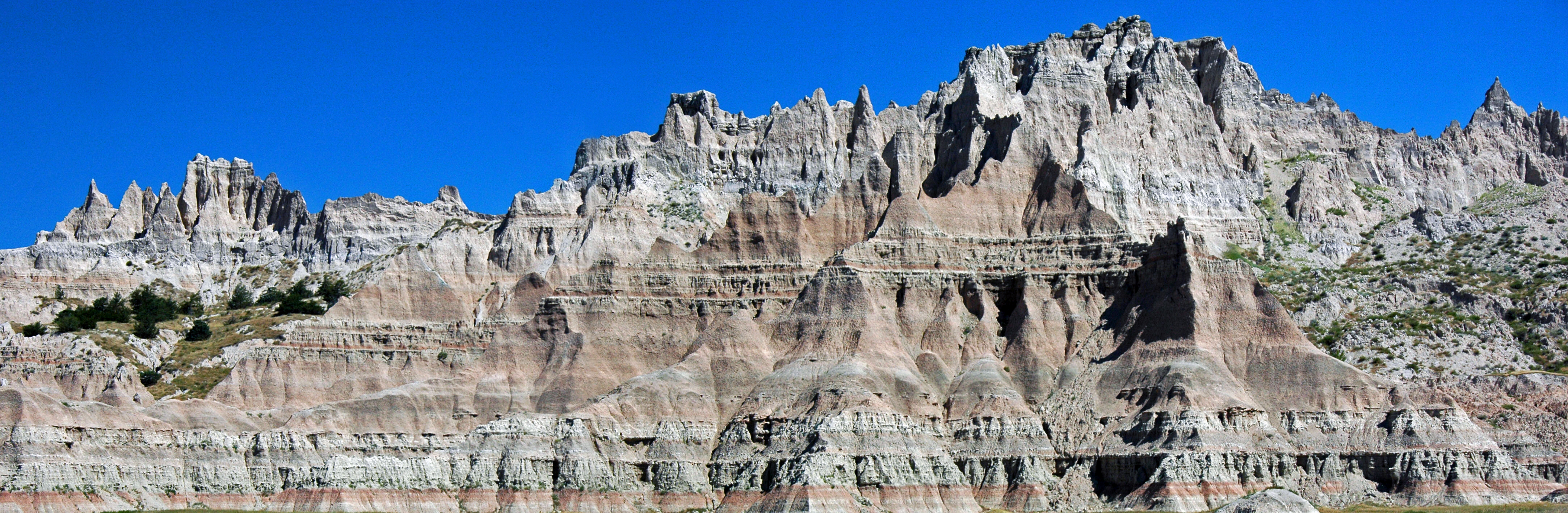 White River Badlands of South Dakota panorama