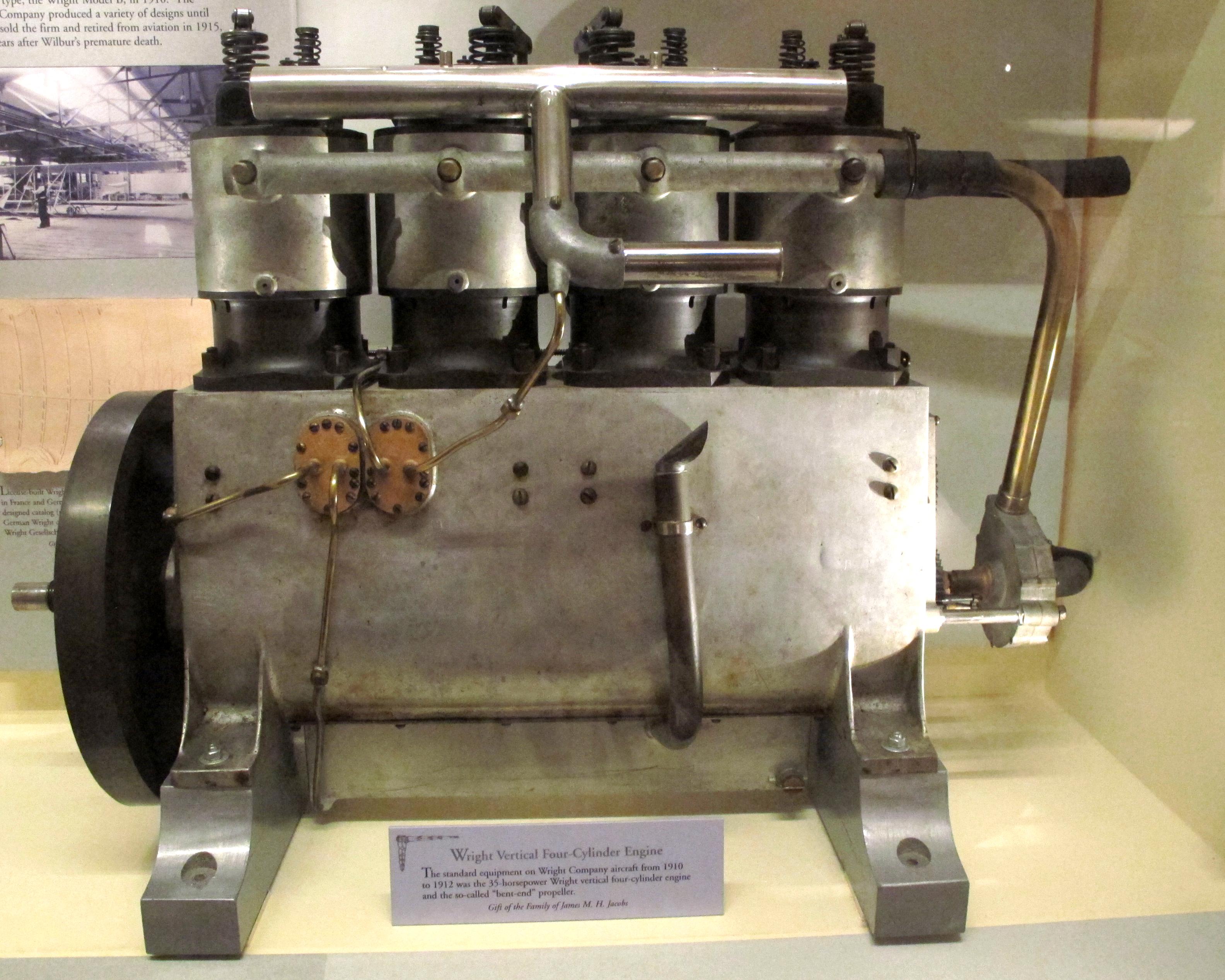 File:Wright Vertical Four-Cylinder Engine jpg - Wikimedia