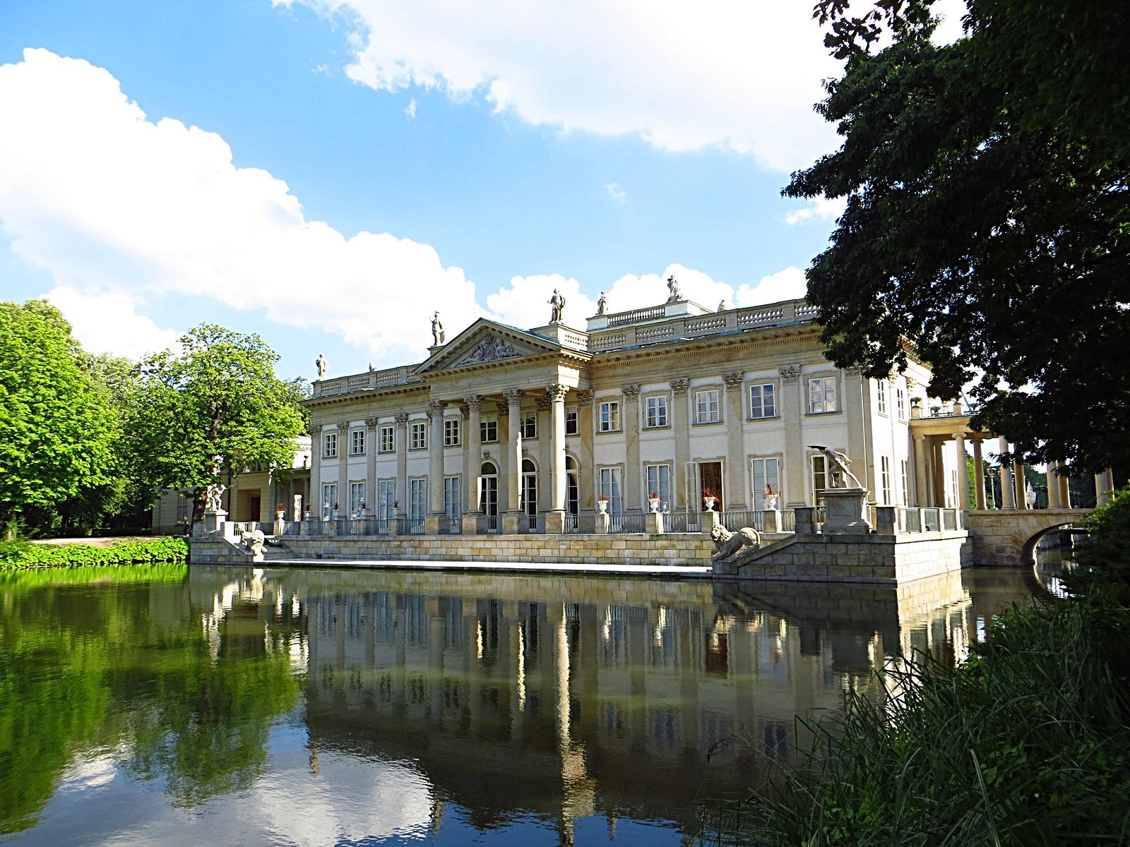 Filełazienki Królewskie Pałac Na Wyspie Panoramio