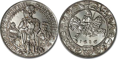 Count to 10,000 Using Pictures - Page 2 1486_Tiroler_Guldengroschen_of_Sigismund_coin