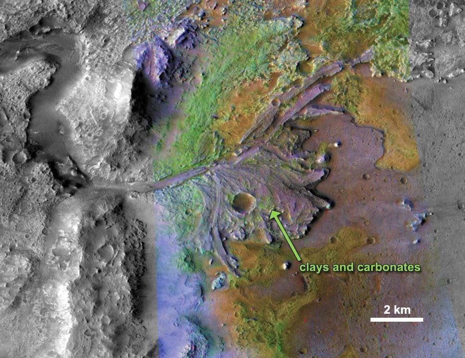 Jezero Crater Delta