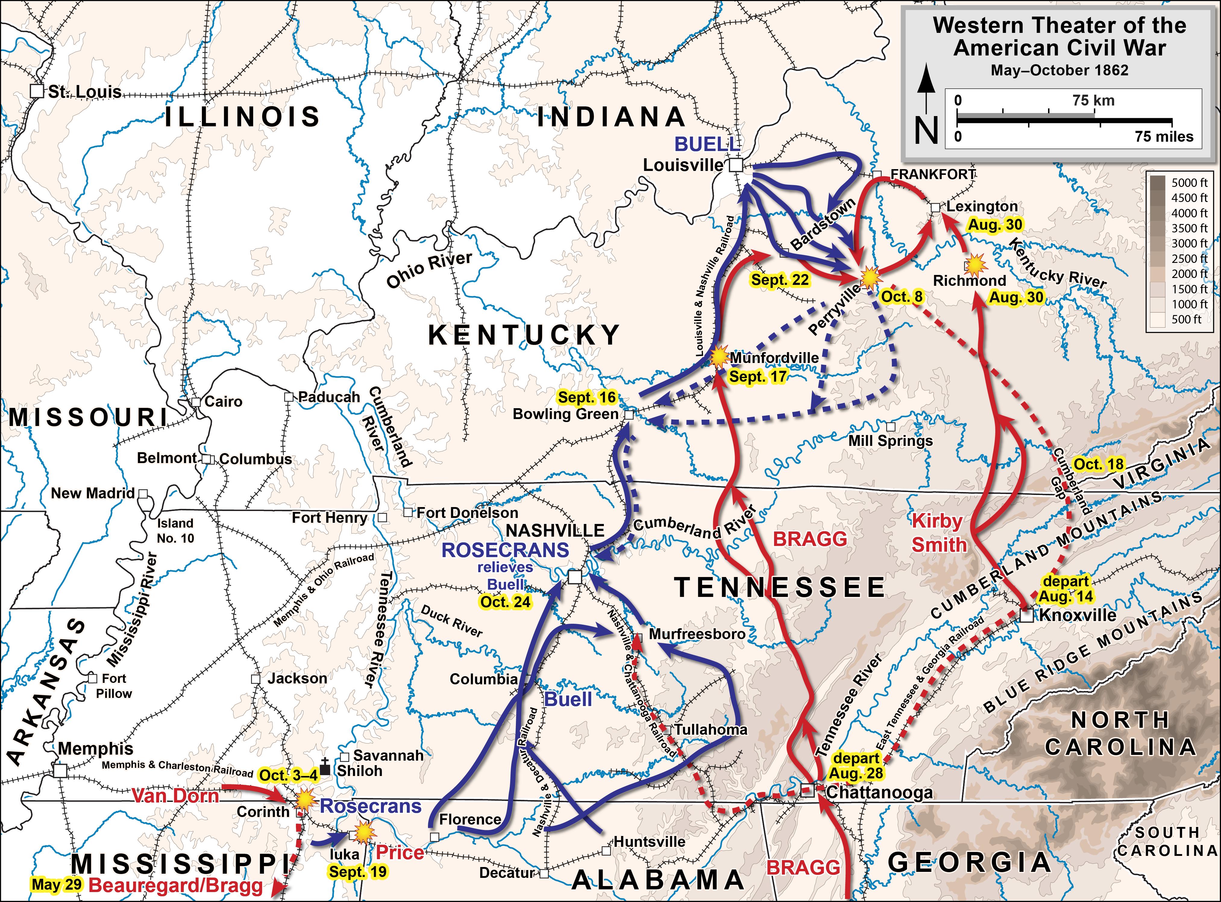 Confederate land Offensive - Wikipedia on tn gis civil war, the battle of malvern hill civil war, seven days campaign civil war, bowling green civil war,