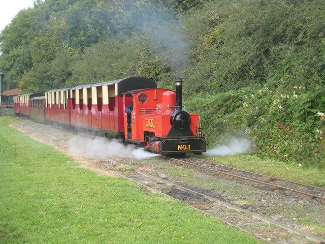A steam engine train in Lappa valley