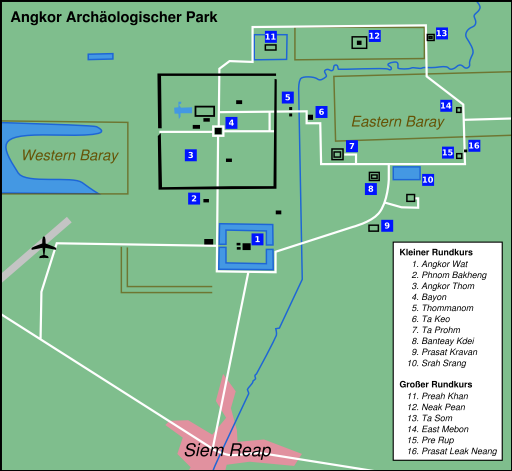Angkor Wat Karte.File Angkor Map Png Wikipedia