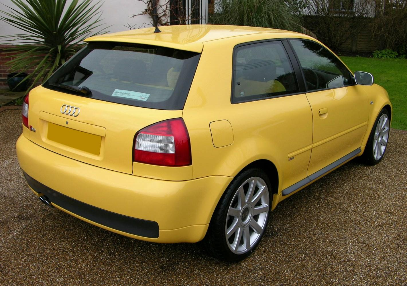 file audi s3 2002 imola yellow wikimedia commons. Black Bedroom Furniture Sets. Home Design Ideas