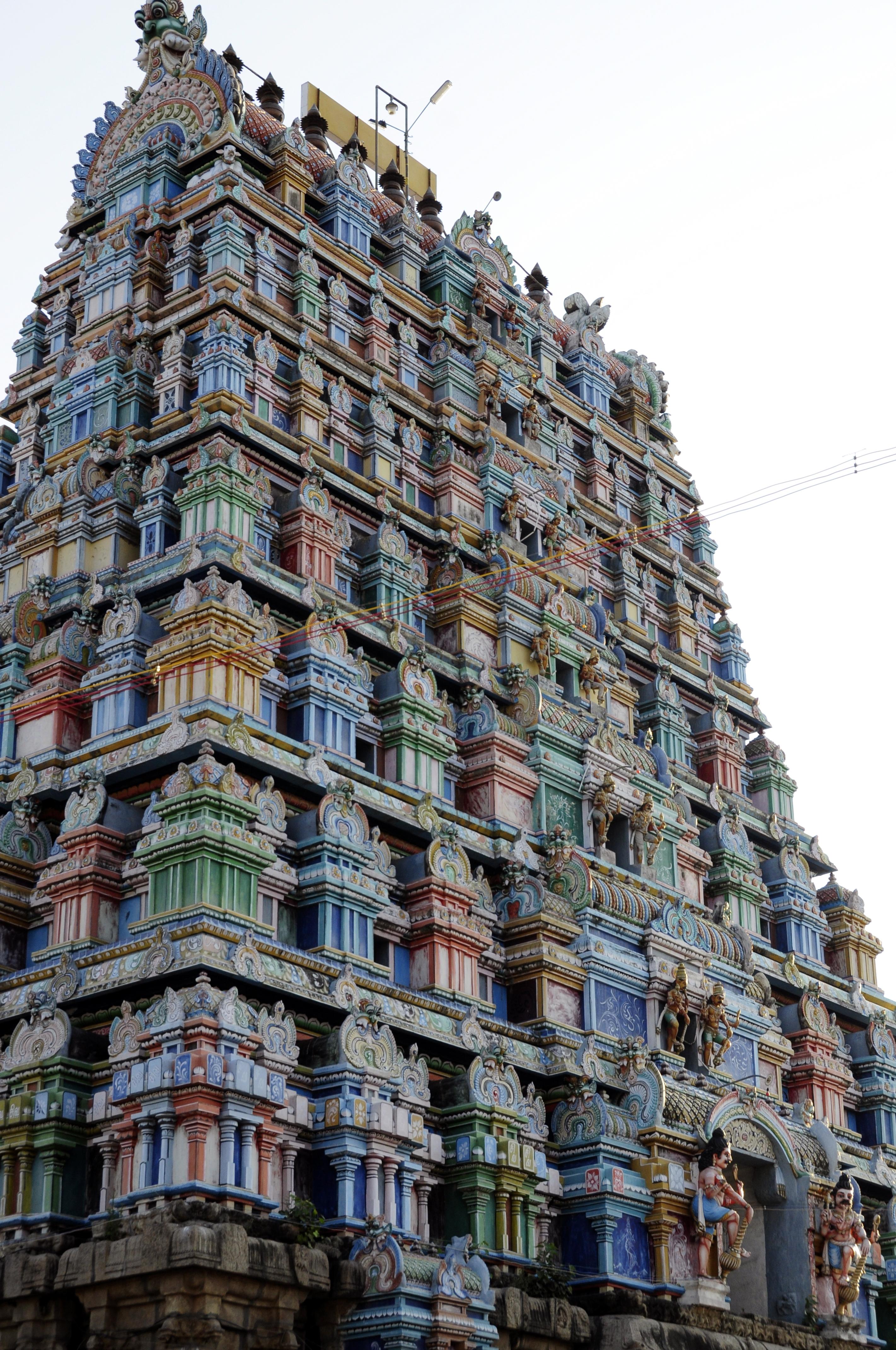 Kovil Gopuram File:avudayar Kovil Gopuram