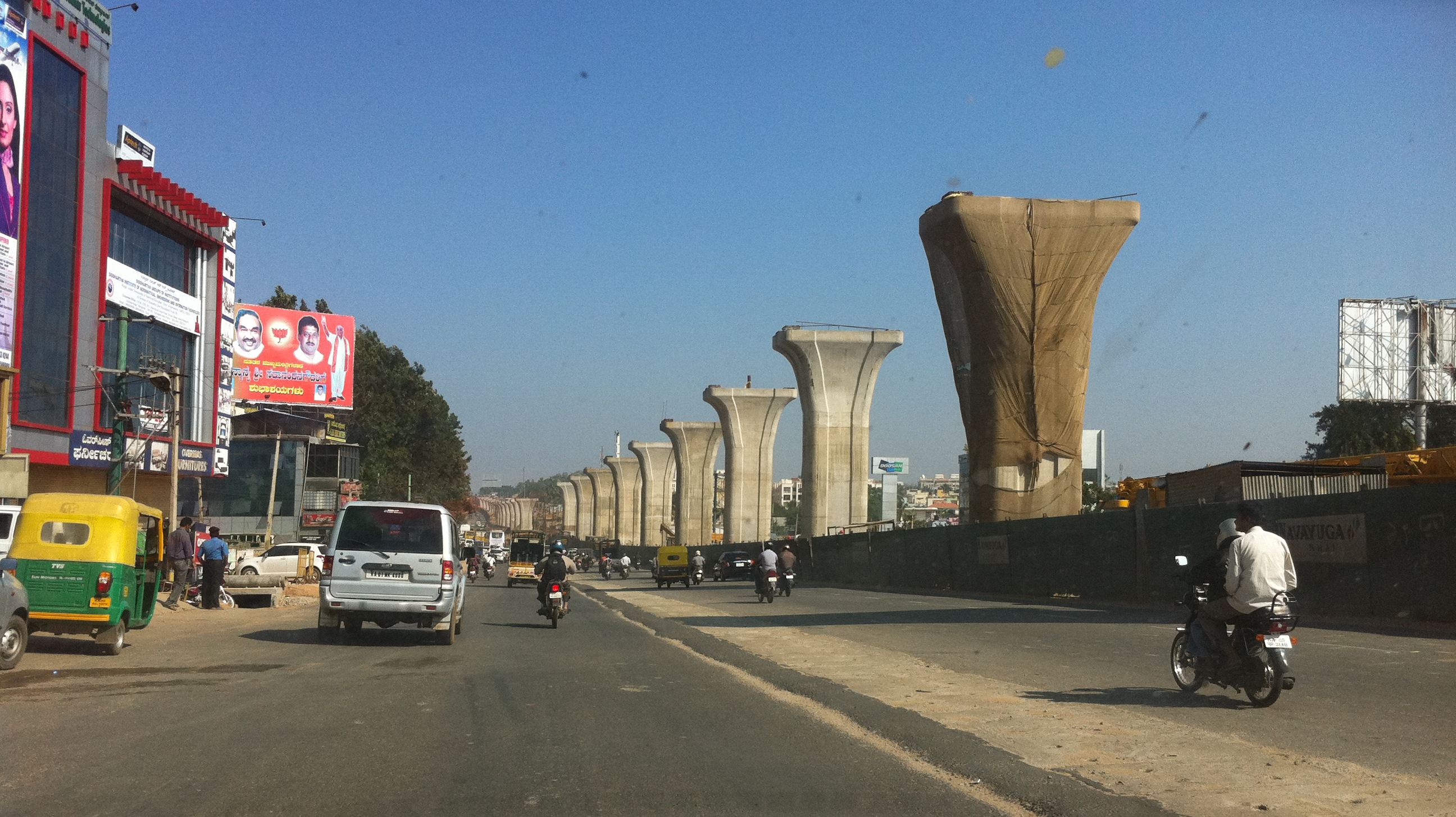 Bangalore India  city pictures gallery : Bangalore India Highway under construction Wikipedia, the ...
