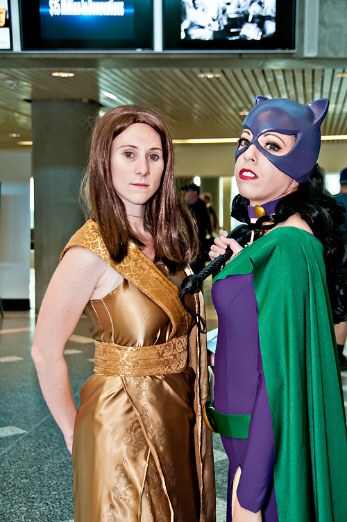 Thor: The Dark World) and Lady Vader (right) cosplaying as Catwoman (from DC Comics). Date 18 May 2013, 16:10 Source DSC_1902E2rs Author Annette Wamser