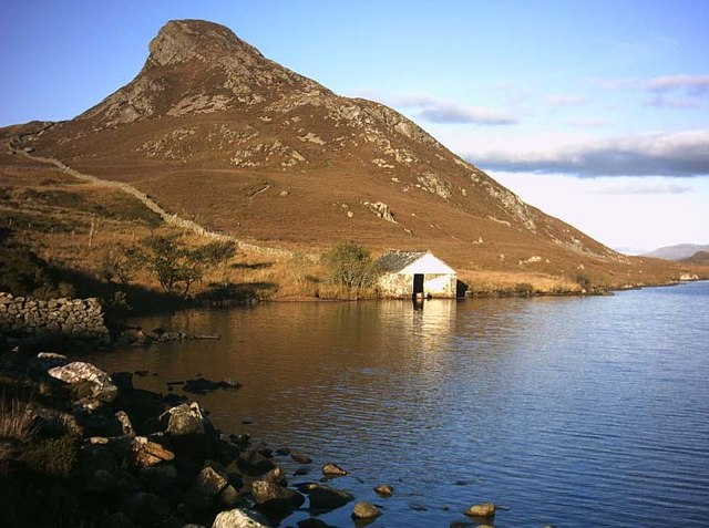 Boathouse on Cregennan Lake - geograph.org.uk - 247285