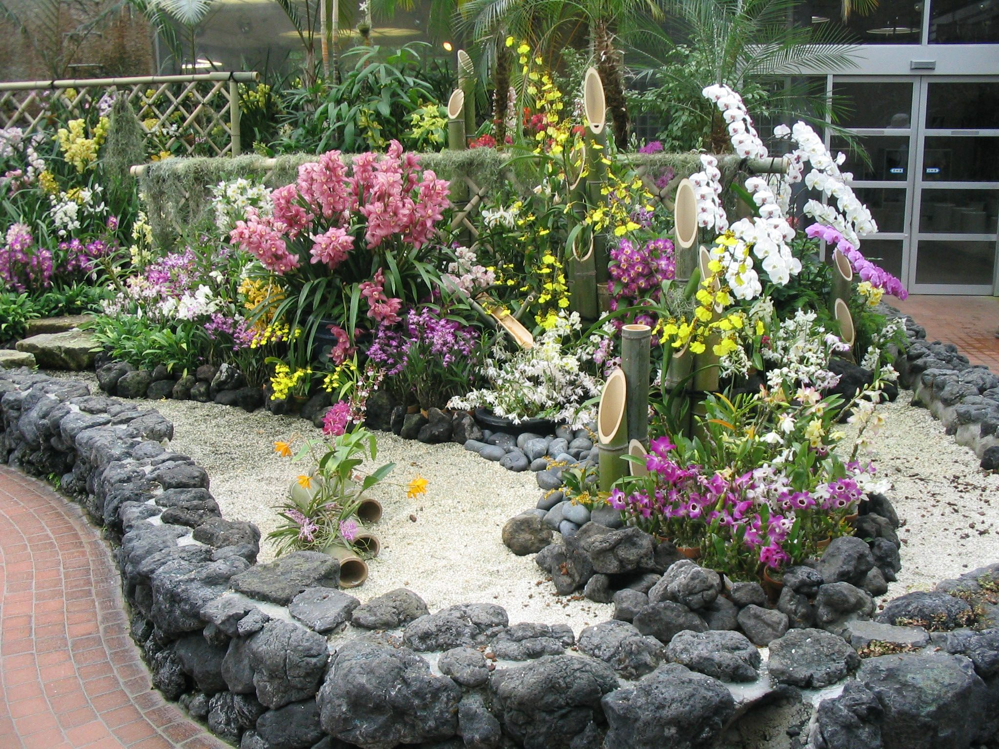 File botanical garden kyoto wikimedia commons - Jardines con piedras blancas ...