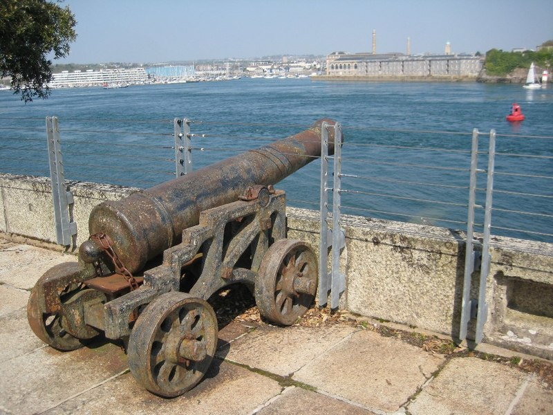 Cannon, Mount Edgcumbe Battery (geograph 4902663)