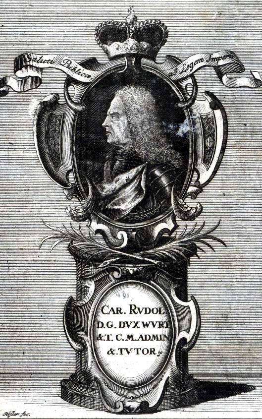 carl rudolf  duke of w u00fcrttemberg-neuenstadt