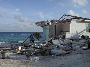 Damage from Ivan in the Cayman Islands.
