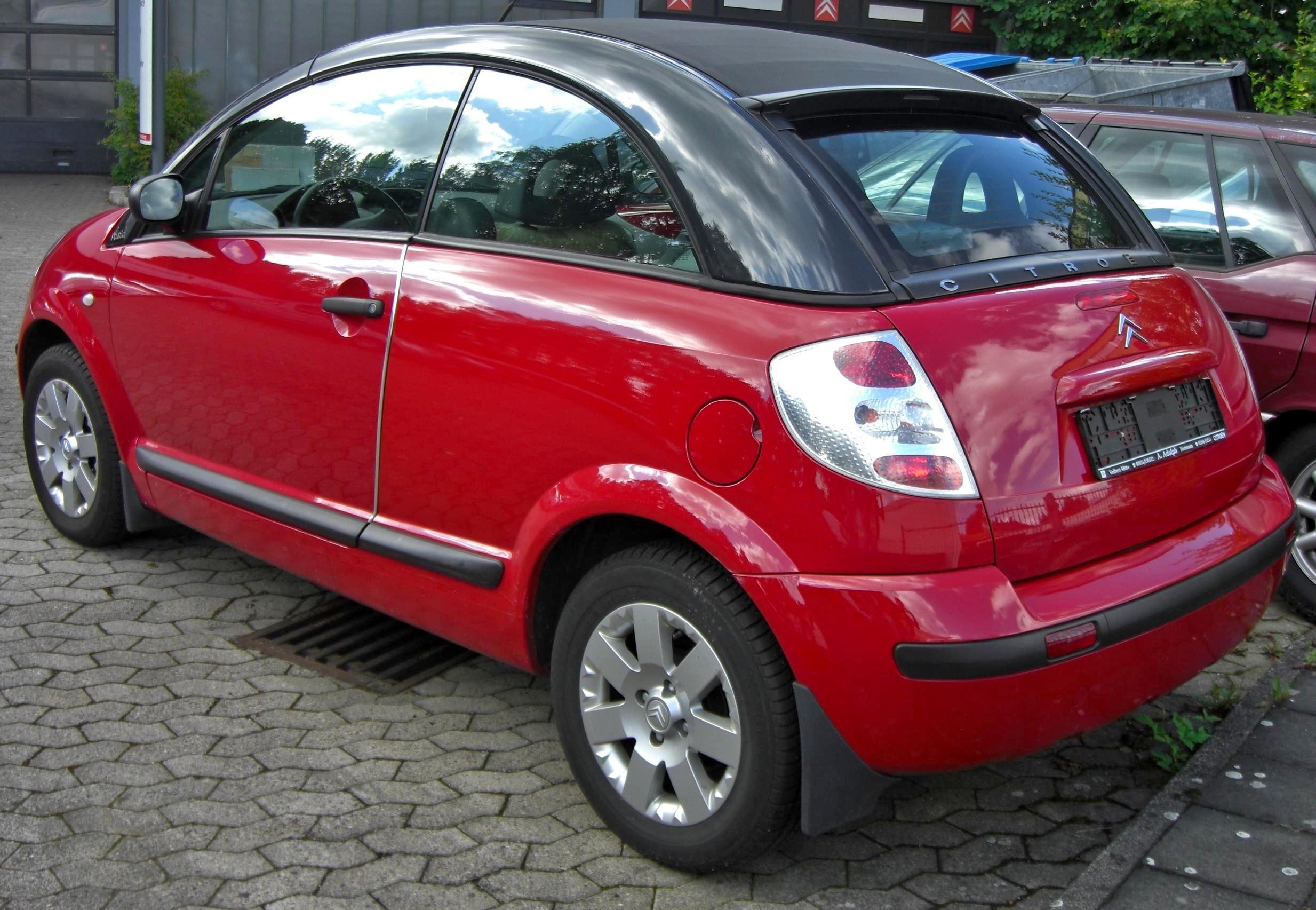 File:Citroën C3 Pluriel rear jpg - Wikimedia Commons