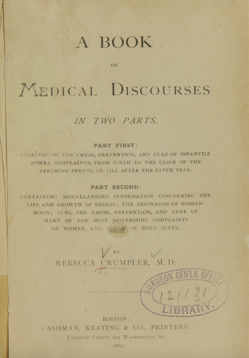 Cover of A Book of Medical Discourses by Rebecca Lee Crumpler