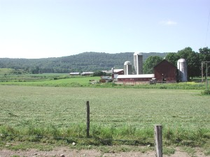 A dairy farm near Oxford, New York in the Unit...