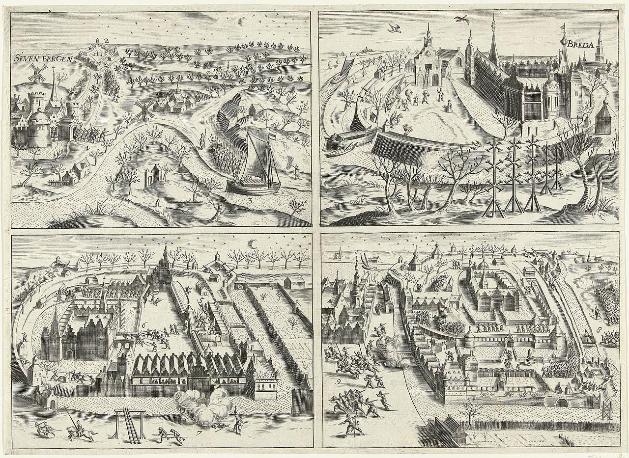 File:De inname van Breda door Prins Maurits op 4 maart 1590 in vier scènes