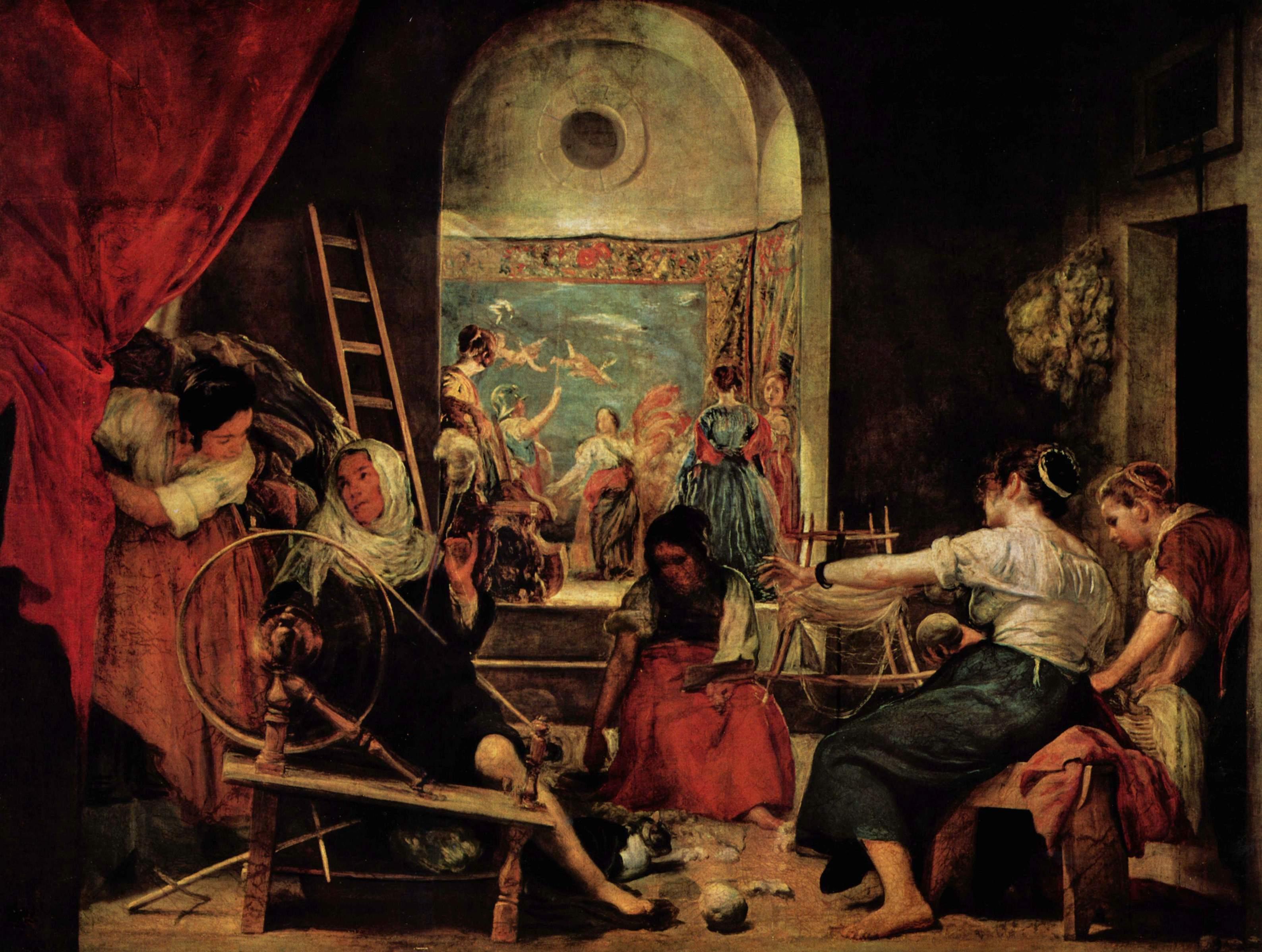 La fábula de Aracne. Velázquez. Museo del Prado. Imagen de Wikimedia Commons.