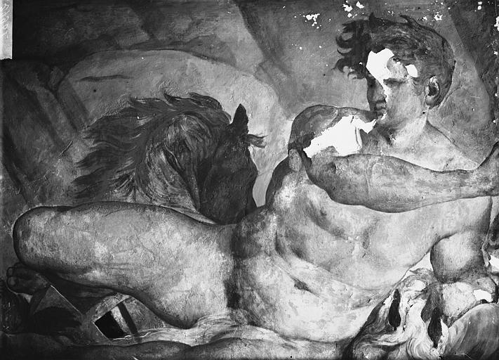File:Domaine national, château - Peintures murales de la galerie Henri II, le Temps, Phaïton - Fontainebleau - Médiathèque de l'architecture et du patrimoine - APMH00027961.jpg