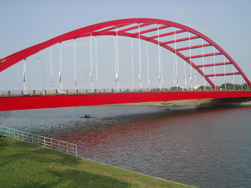 冬山河上的利澤簡橋