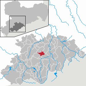 Ehrenfriedersdorf Place in Saxony, Germany