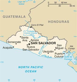 El Salvador - Mappa