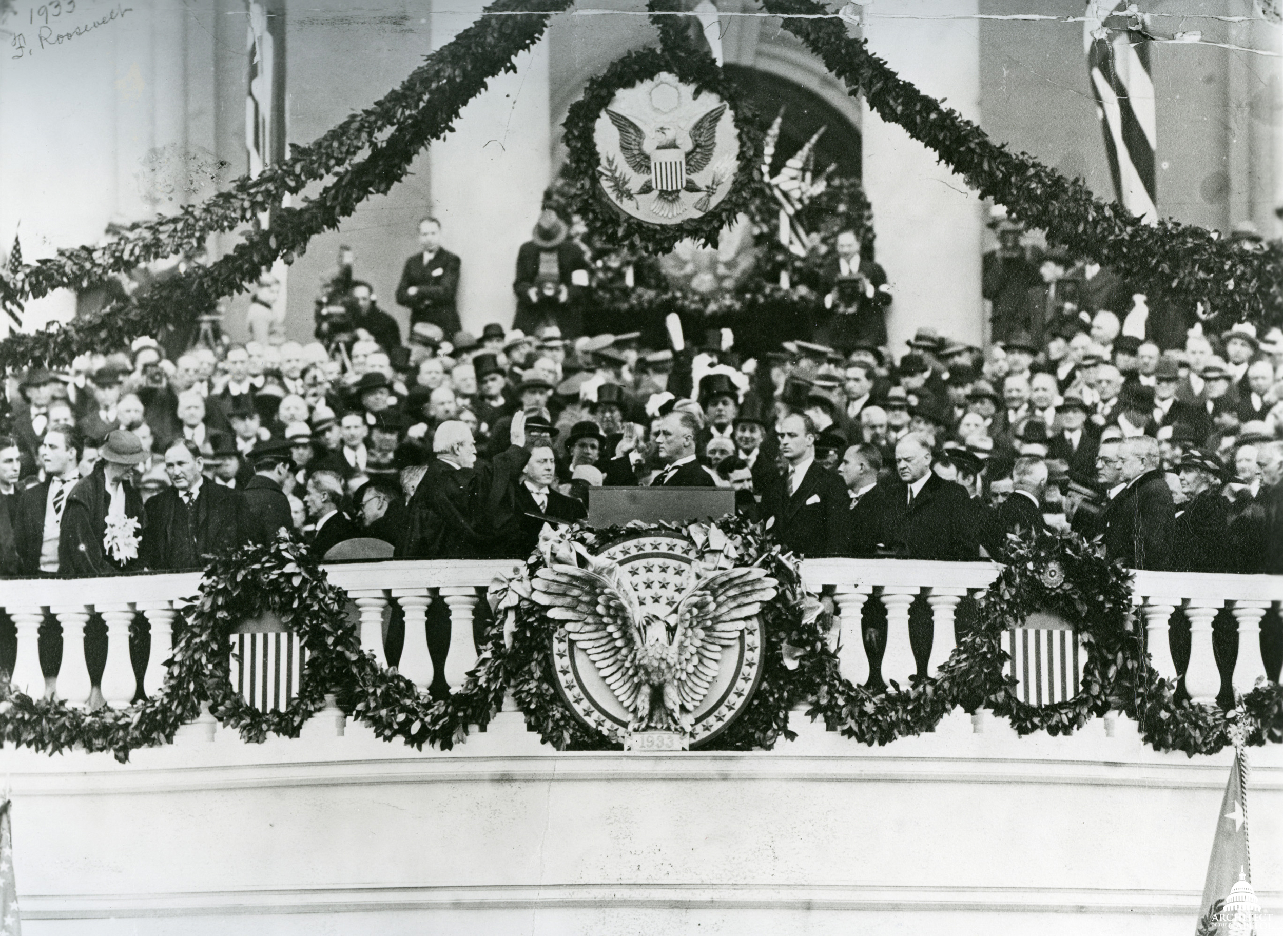 Image result for FDR inaugurated 1933 images