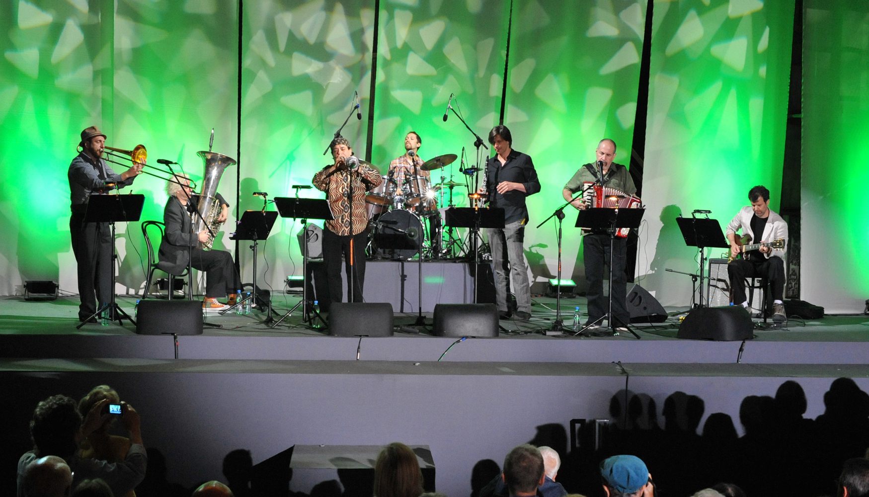 Frank London´s Klezmer Brass Allstars performing in Warszawa in September 2011
