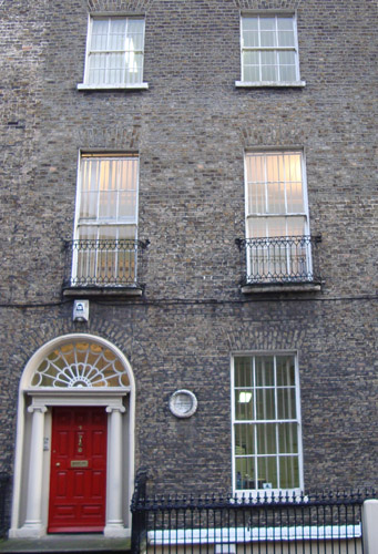 George Moore's house in Ely Place, Dublin, Ireland