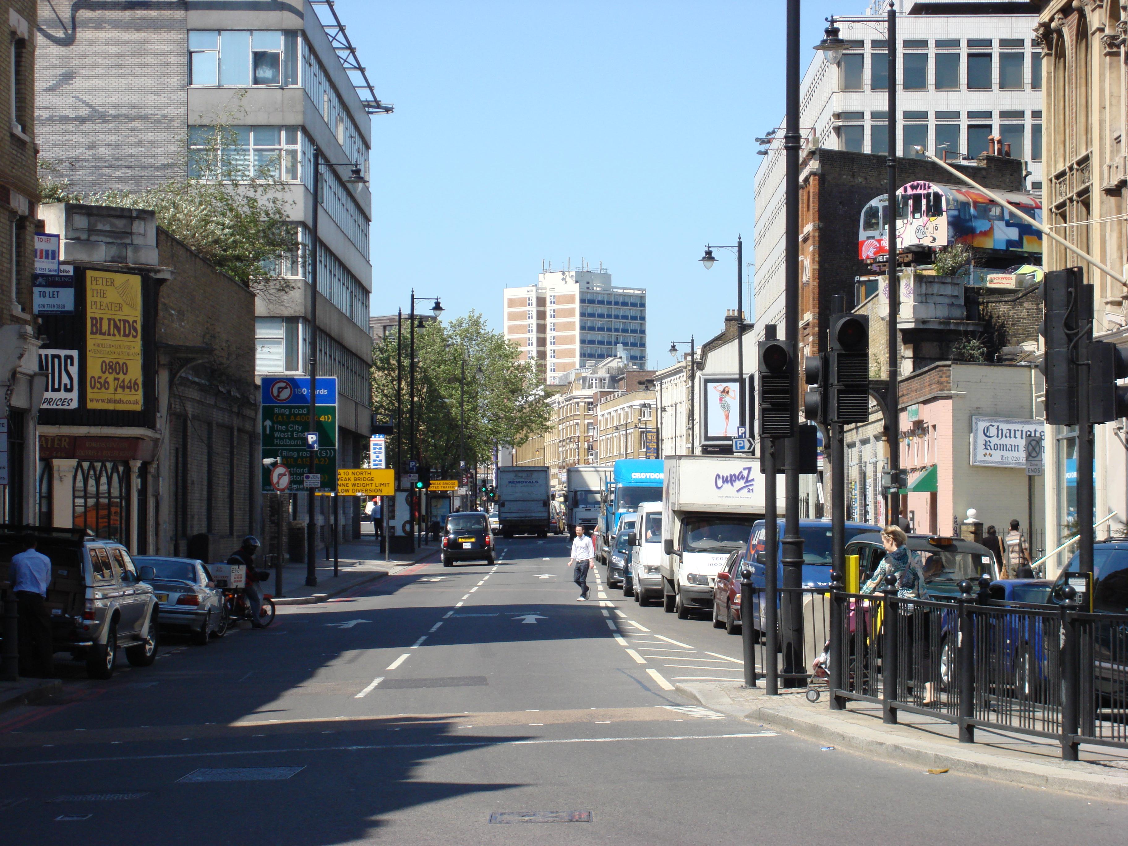 File:Great Eastern Street London from Shoreditch High Street.jpg