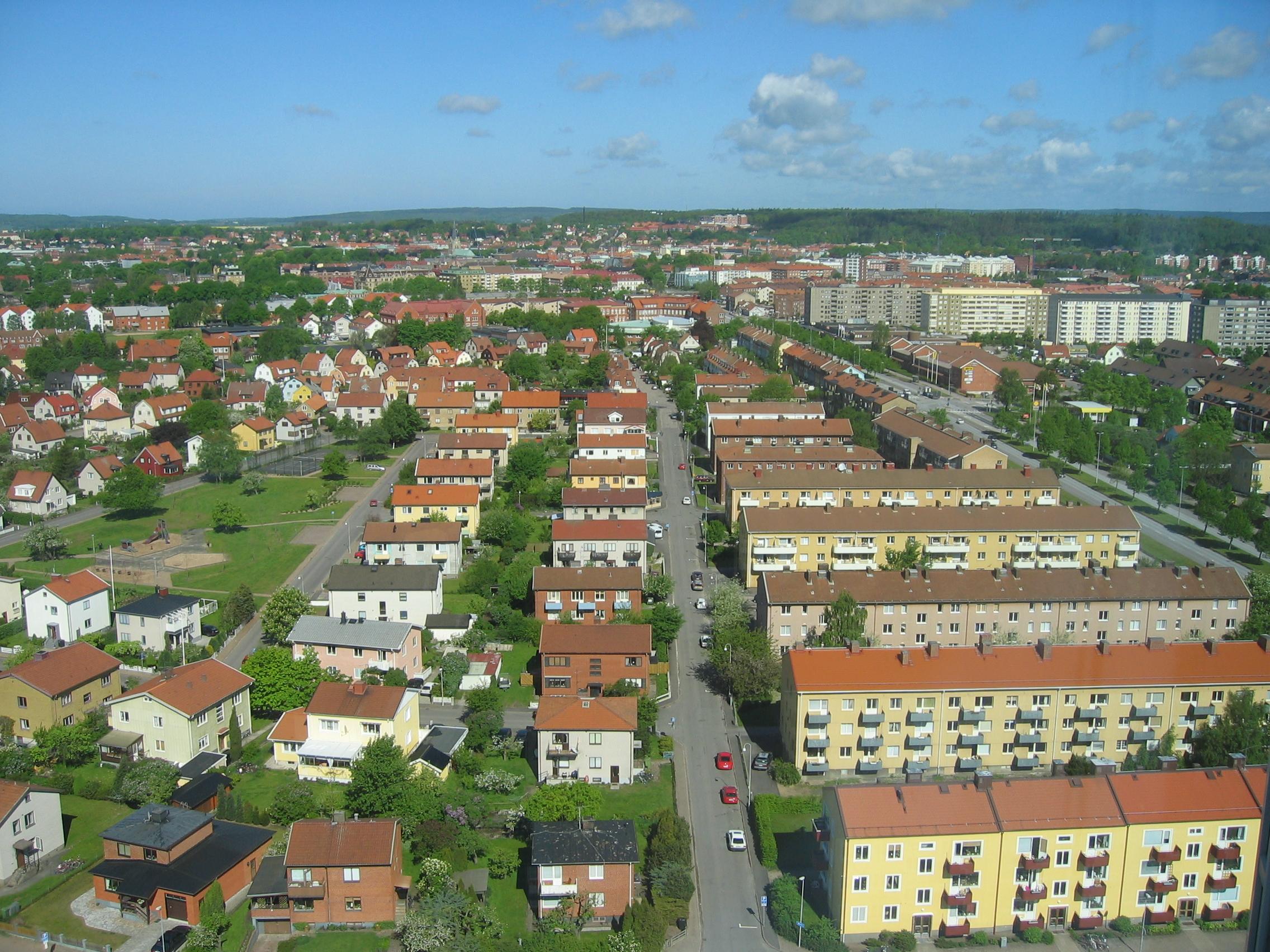 File:Halmstad, Sweden, view from Tradecenter.jpg ...