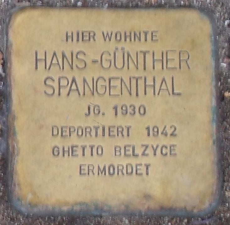 Hans-Günther Spangenthal Stolperstein in Eisenach.jpg