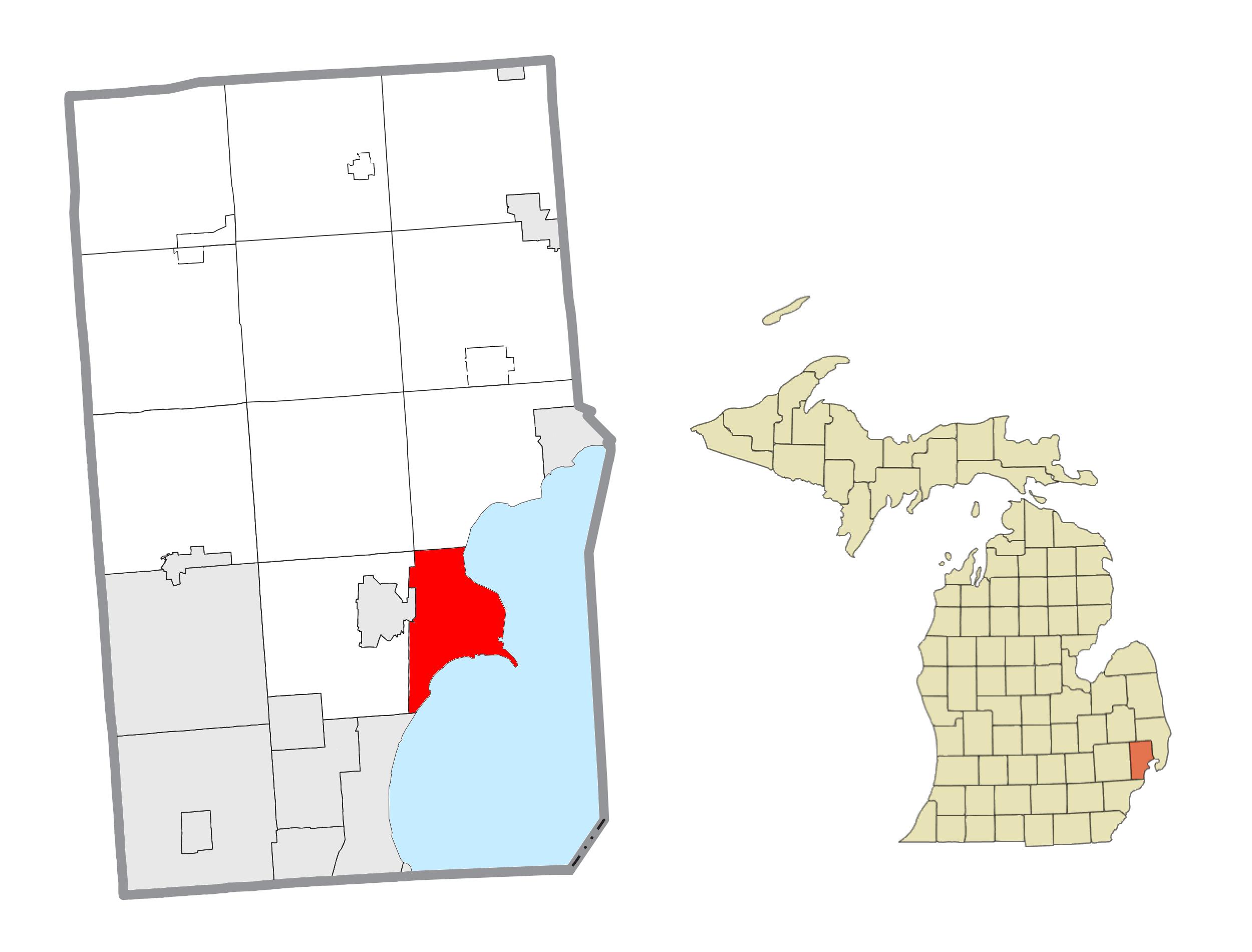 Memphis Michigan Map.Harrison Township Michigan Wikipedia