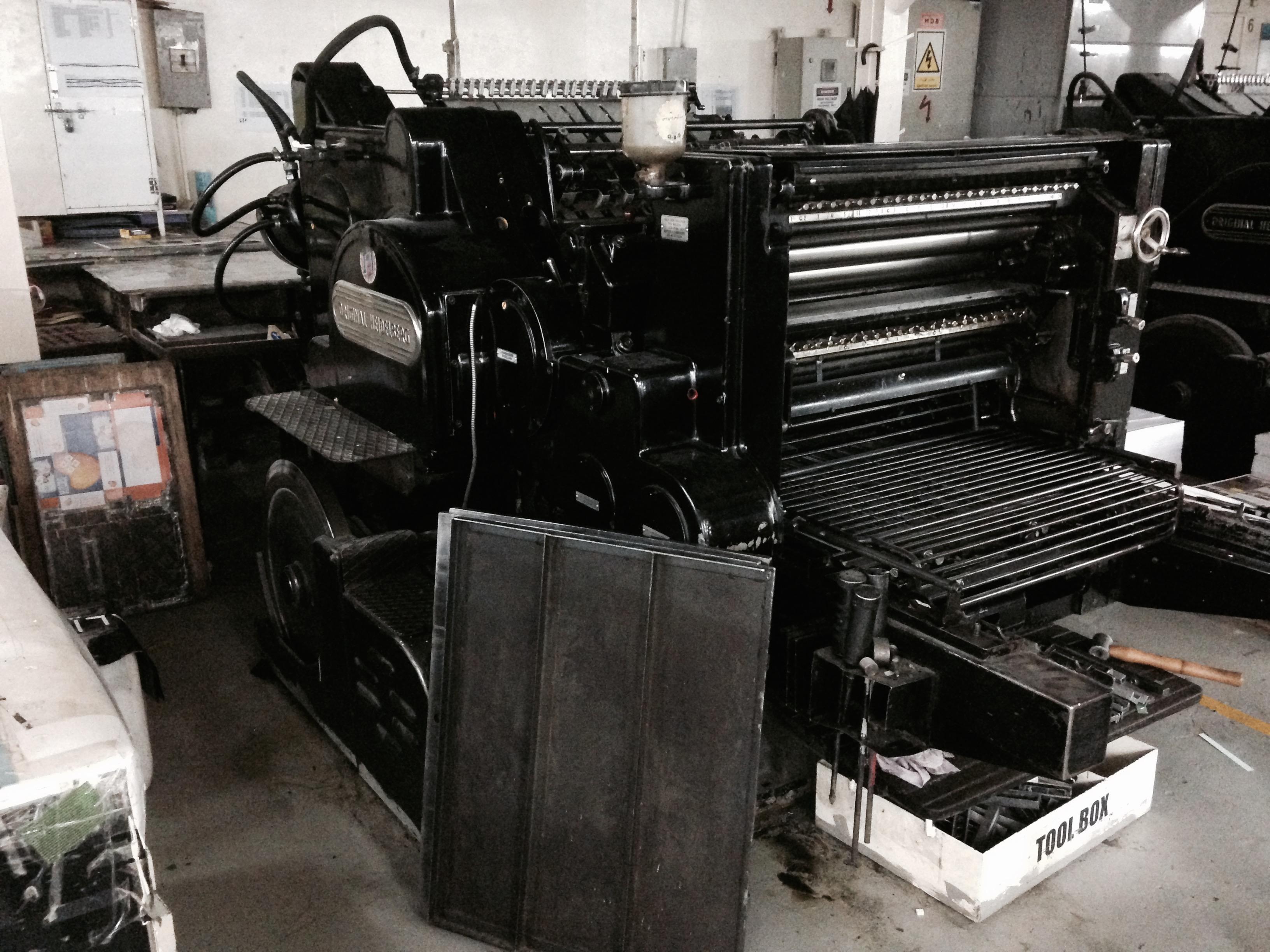 Original Heidelberg Cylinder Printing Machine