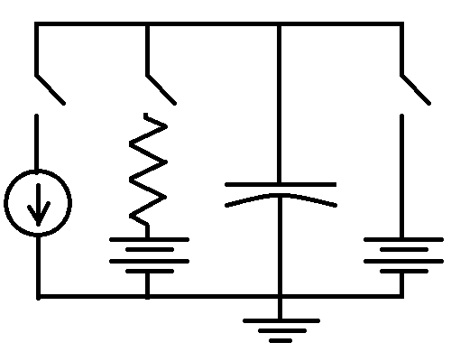 file integrate and fire circuit diagram png wikimedia commons rh commons wikimedia org  circuit schematic engine control module