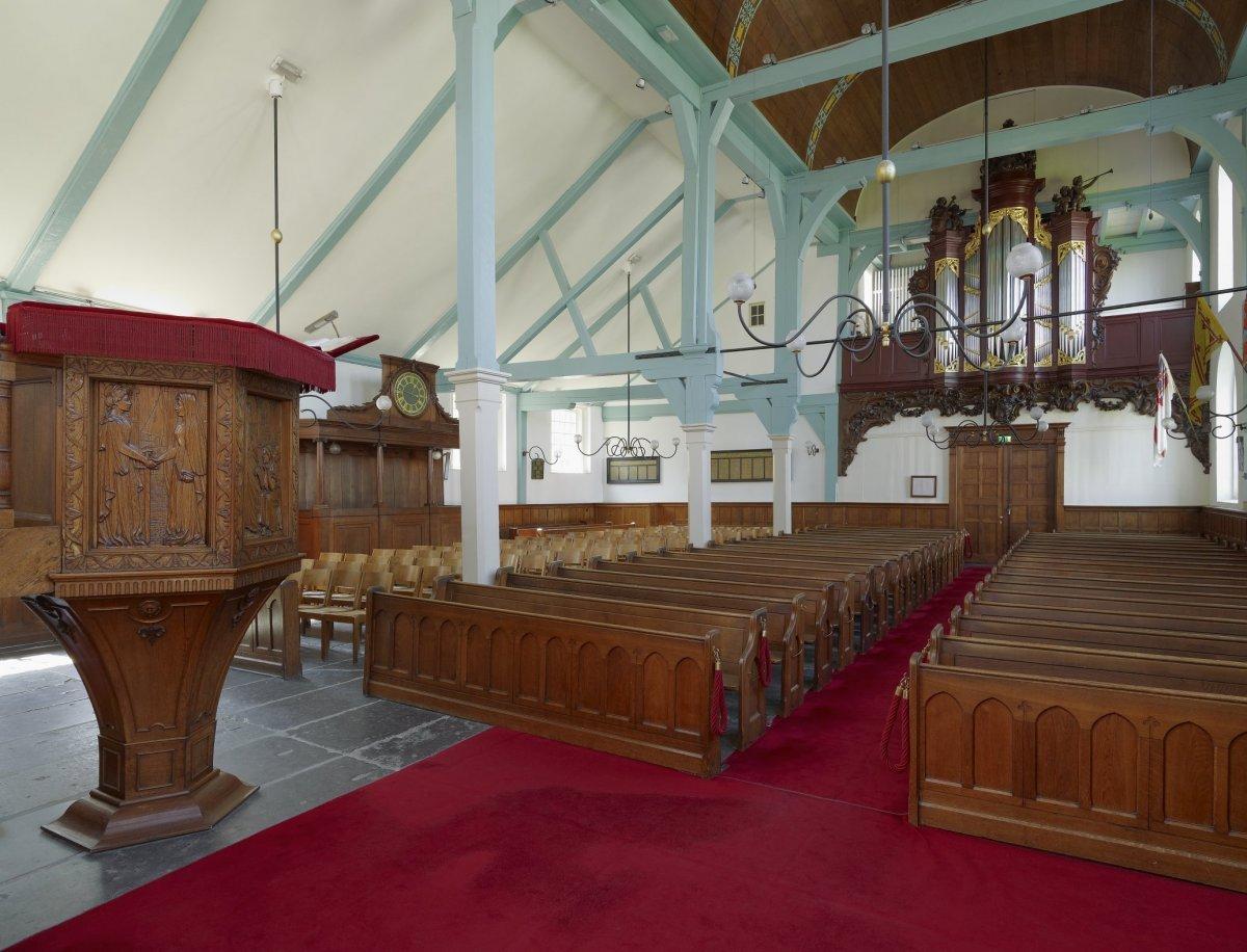 File interieur overzicht naar het westen met orgel for Interieur amsterdam