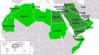 israel and arab states map kpng