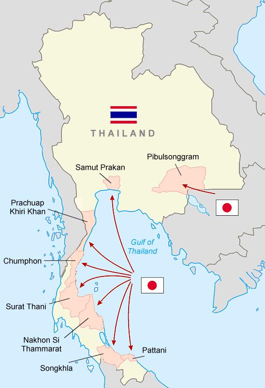 japanese invasion of thailand