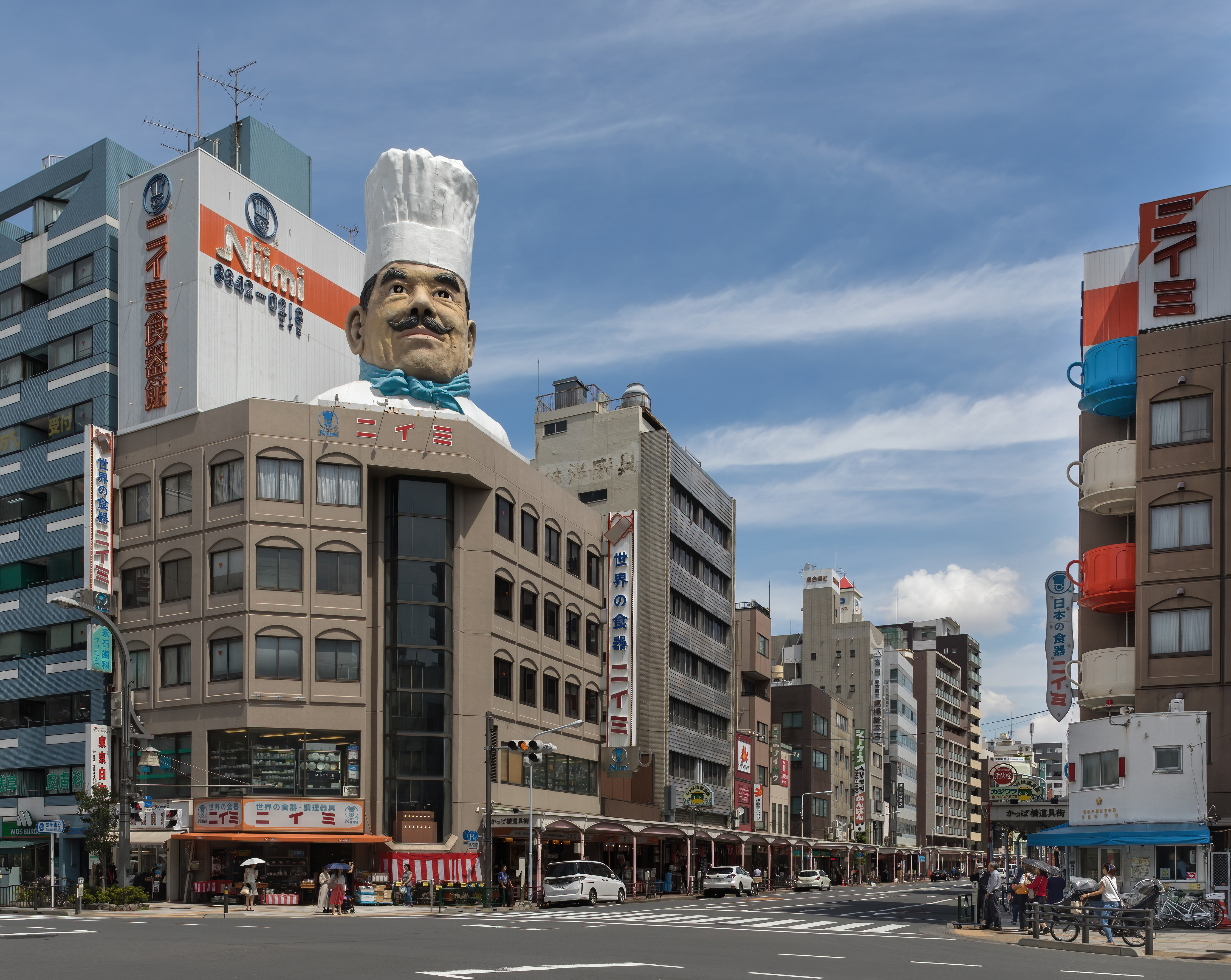 FileKappabashi dori streetcorner Kitchen town   southern end a ...